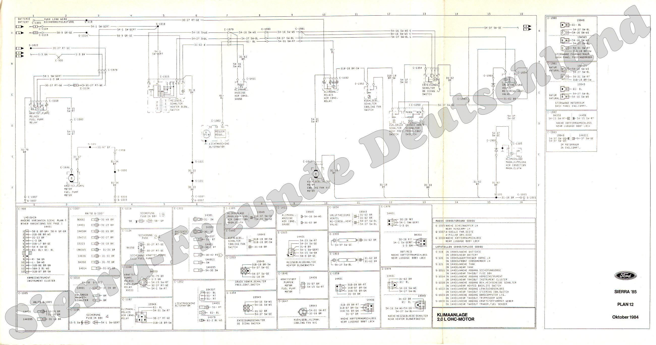 Ausgezeichnet Ford Sierra Schaltplan Fotos - Elektrische Schaltplan ...