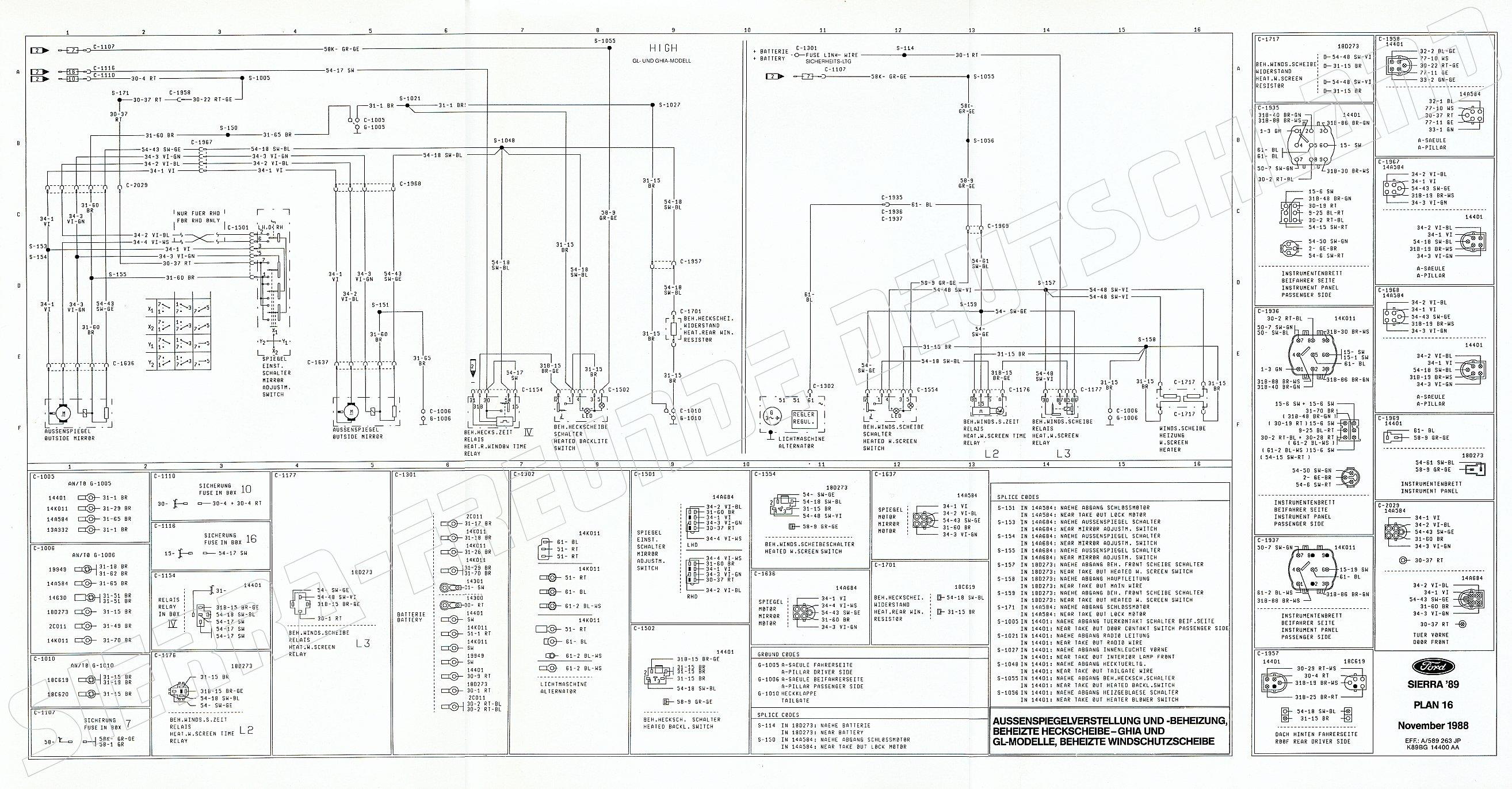 Charmant Ford Sierra Schaltplan Zeitgenössisch - Der Schaltplan ...